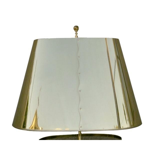Curtis Jere Style Brass Table Lamp For Sale - Image 5 of 6