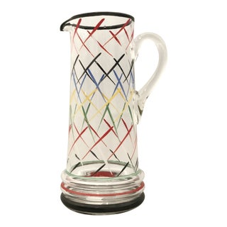 American Blown-Glass Pitcher For Sale