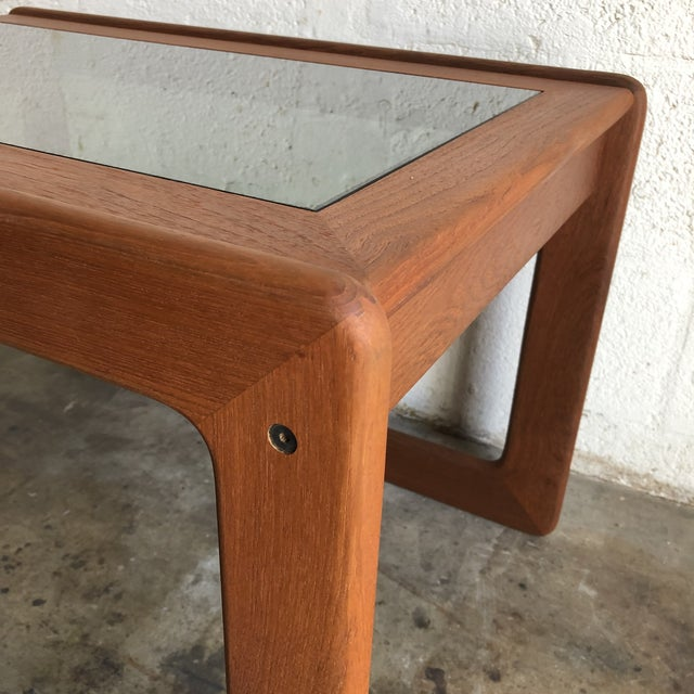 Vintage Mid Century Modern Danish Side Table by Komfort Furniture For Sale In Miami - Image 6 of 11