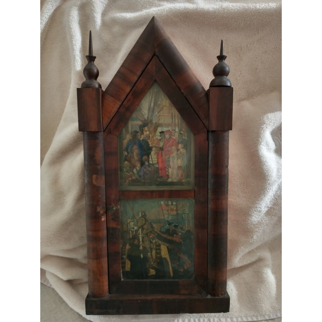 Wood Mid 19th Century Steeple Clock Case For Sale - Image 7 of 7
