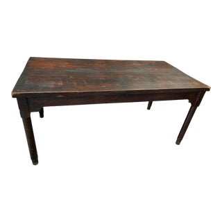 19th Century Antique Country Farmhouse Table For Sale