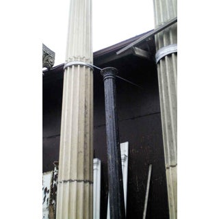 Tall Limestone Columns With Doric Capitals - a Pair Preview