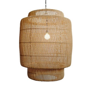 Natural Wicker Liberty Lantern Large For Sale