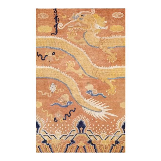 Mid 18th Century Antique Ningxia Pillar Rug For Sale