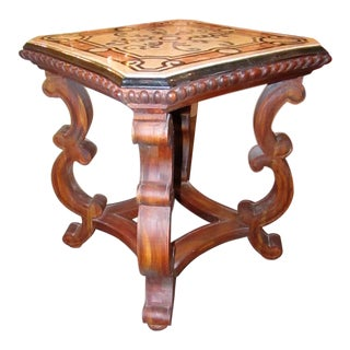 1990s Mediterranean Maitland Smith Decorative Ornate Accent Table For Sale