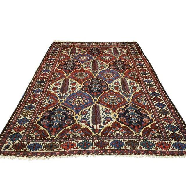Islamic Antique Persian Bakhtiari Rug with Four Seasons Garden Design For Sale - Image 3 of 8