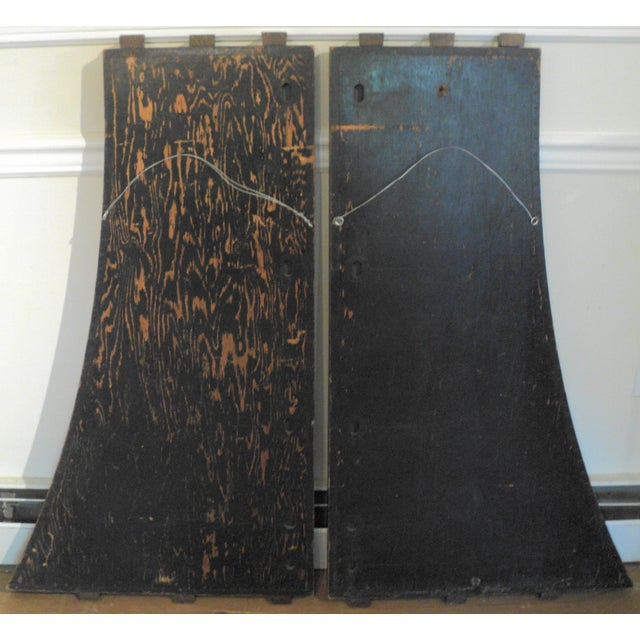 Antique Vintage Industrial Wood Factory Mold Mirrors - A Pair - Image 11 of 11