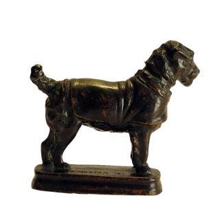 E. Norton 1921 Arts & Crafts Bronze Dog in Coat For Sale