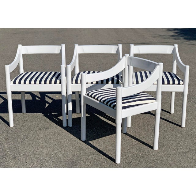 Wood Vico Magistretti Carimate Chairs, Set of 4 For Sale - Image 7 of 7