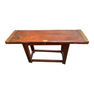 Liberty Ship Hatch Cover Console Table For Sale