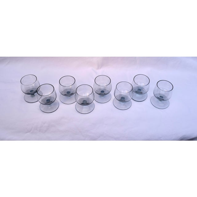 Holmegaard Mid-Century Smoked Glass Cordial Decanter Set For Sale - Image 4 of 7