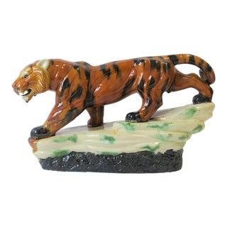 Art Deco Tiger Cat Sculpture For Sale