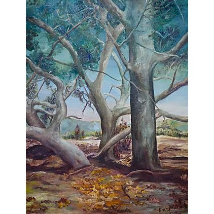 Study of Trees Painting - Image 1 of 6
