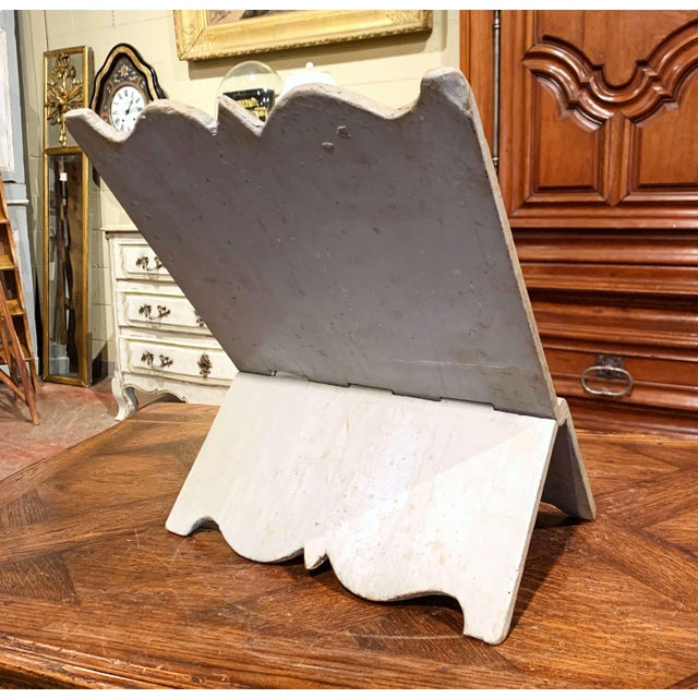 18th Century Italian Carved Giltwood and Painted Holy Bible Folding Book Stand For Sale In Dallas - Image 6 of 10