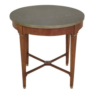 Baker Round French Empire Marble Top Center Table