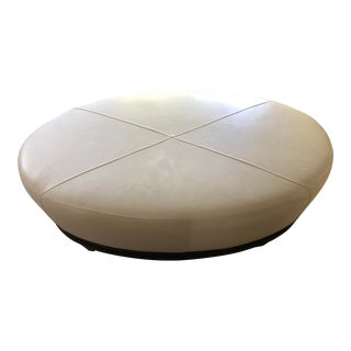 Baker Furniture Oval X-Stitched Ottoman by Barbara Barry For Sale