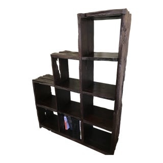 Dark Driftwood Bookshelf For Sale