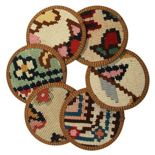 Rug & Relic Kilim Coasters Set of 6 - Silvan For Sale