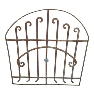 Antique Victorian Iron Garden Fence or Gate Element For Sale