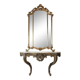 Italian Mirror & Console For Sale