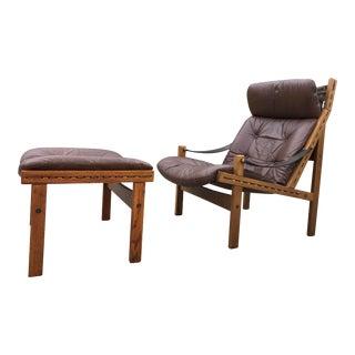 Mid Century Modern Torbjørn Afdal for Bruksbo Highback Lounge Chair For Sale