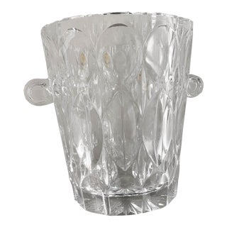 Vintage 1970s Lead Crystal Ice Bucket For Sale