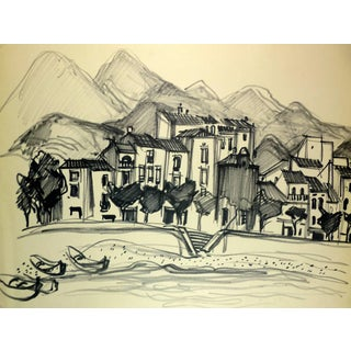 Jean-Baptiste Grancher, Provence Town With Mountains For Sale