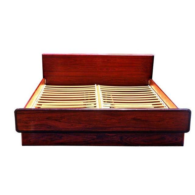 Brouer Mid-Century Modern/Danish Modern King Rosewood Platform Bed - Image 4 of 4