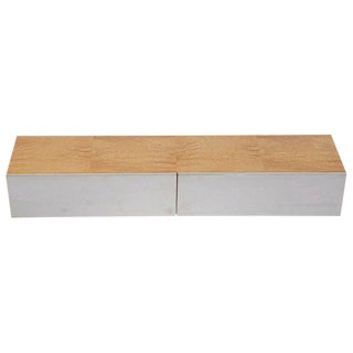 Leon Rosen for Pace Collection Burl Wood Wall Mount Floating Shelf, Circa 1970 For Sale