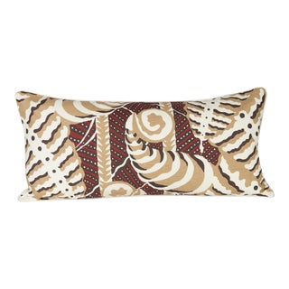 Ferns Uni Rust Lumbar Pillow For Sale