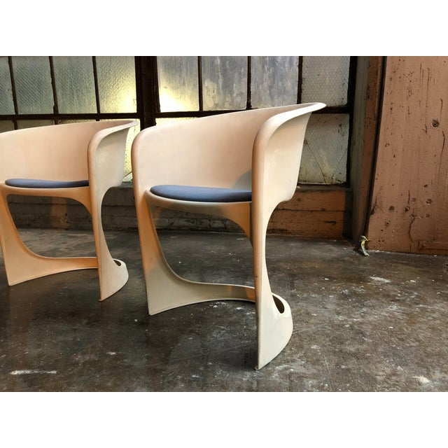 Cado by Steen Ostergaard Mid Century Danish Modern Molded Plastic Stacking Dining Chairs - Set of 4 - Image 5 of 7