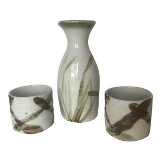 Sake for Two - Handmade Pottery Sake Serving Set For Sale
