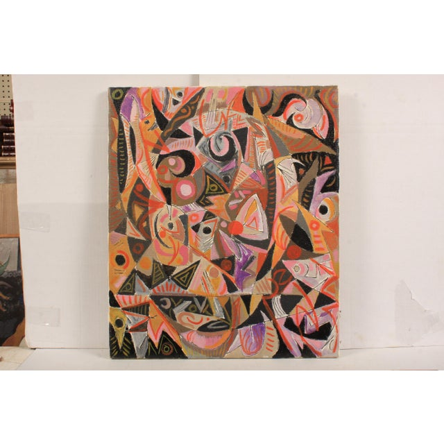 1982 Lively Abstract Composition by Lars Larsen For Sale - Image 4 of 4