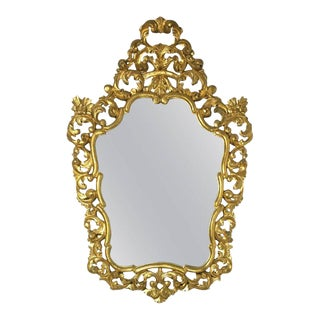 19th French Empire Period Carved Gilt Wood Rectangular Mirror