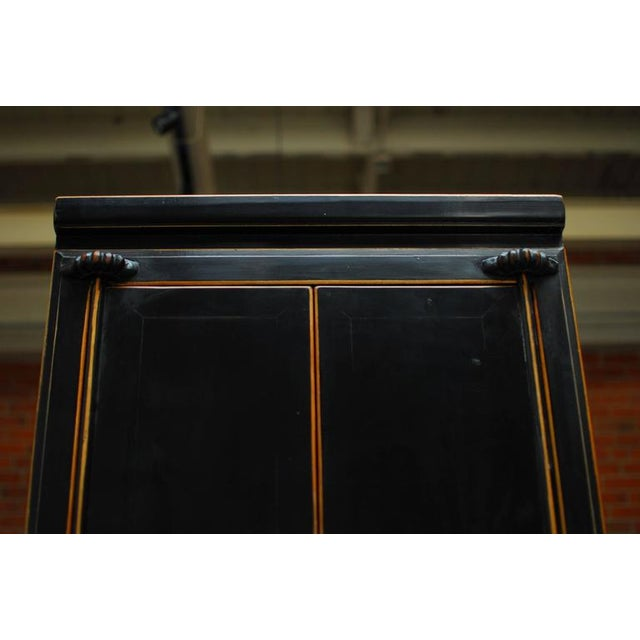 Chinese Tall Black Lacquer Cabinet For Sale In San Francisco - Image 6 of 6