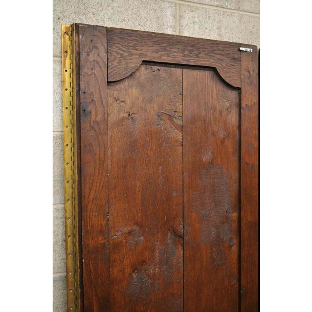 19th Century French Louis XVI Oak Interior Double Doors - Set of 2 For Sale - Image 10 of 13