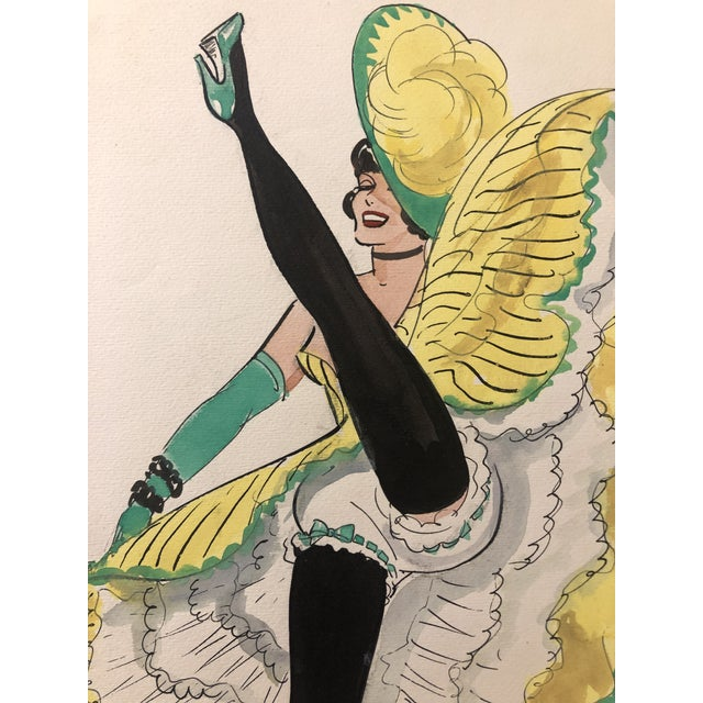 Mid-Century Parisian Can Can Dancer by Alice Huertas For Sale - Image 4 of 5