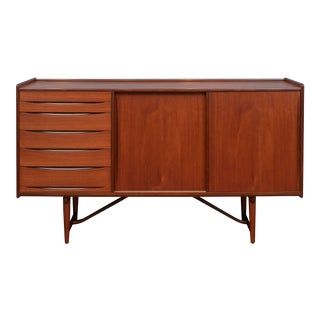 Scandinavian Modern Teak Credenza For Sale