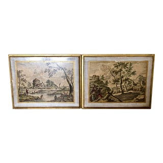 Vintage Florentine Scenic Wall Plaques For Sale