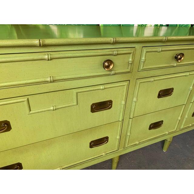 Ficks Reed Vintage Ficks Reed Faux Bamboo Dresser For Sale - Image 4 of 7