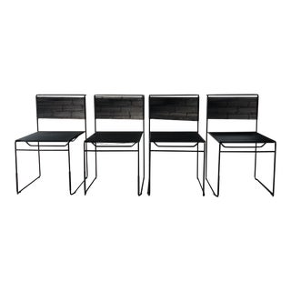 """Vintage 1970s """"Spaghetti"""" Giandomenico Belotti for FlyLine Dining Chairs - Set of 4 For Sale"""