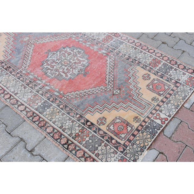 Distressed Turkish Oushak Rug - 3′11″ × 6′1″ - Image 9 of 9