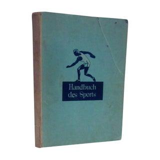 1932 Book Handbuch des Sports German