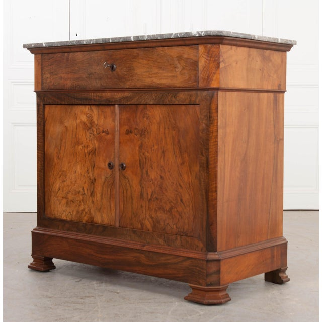 19th Century French 19th Century Louis Philippe Walnut Drop-Front Desk For Sale - Image 5 of 12