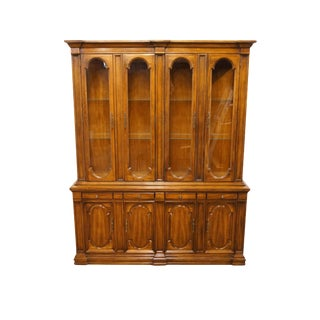 High End Italian Provincial Solid Walnut Cabinet For Sale