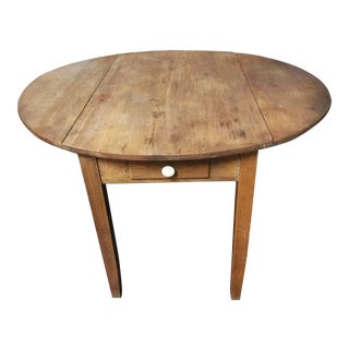 20th Century French Country Drop Leaf Kitchen Table For Sale
