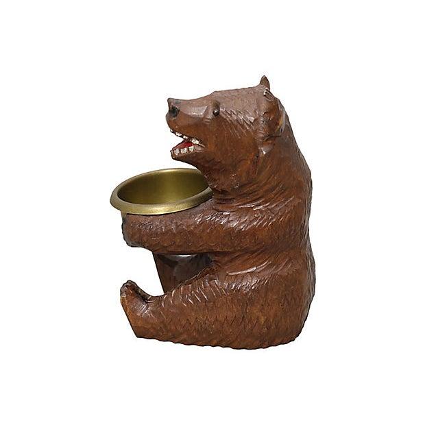 Antique hand-carved Black Forest bear ashtray. No maker's mark.