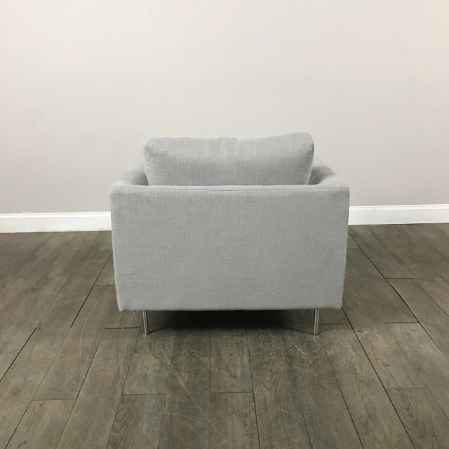 Clean Lined Modern Armchair - Image 10 of 11