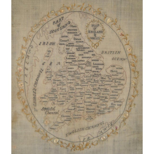 Early 19th Century Map of England and Wales Sampler For Sale - Image 10 of 10