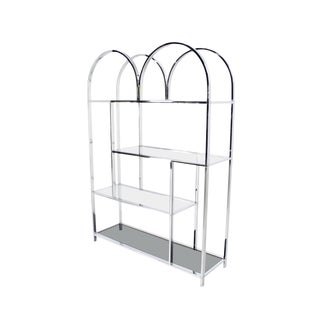 Milo Baughman Chrome Etagere Shelving Unit For Sale